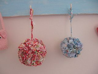 Fabric Scrap Pom Pom by Molly Chicken